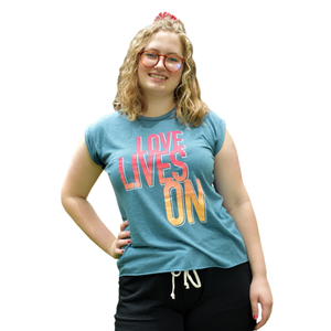 Love Lives On Women's Muscle Tee