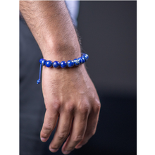 Load image into Gallery viewer, Lapis Bracelet with Hand Tied Knot