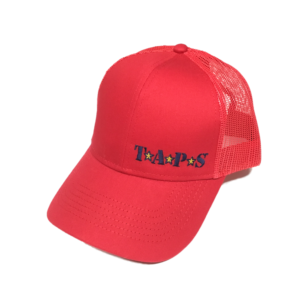 TAPS Red Mesh Back Cap