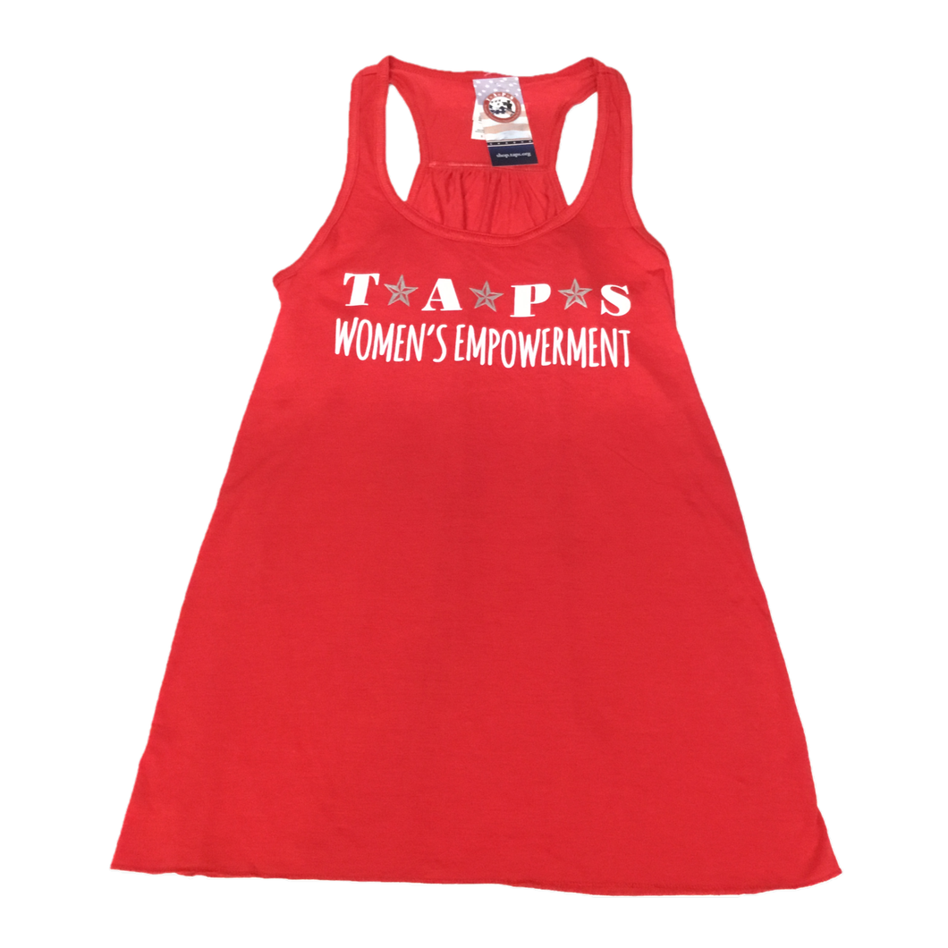 Women's Empowerment Flowy Tank with Silver and White Stars