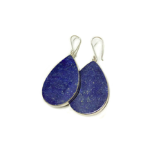 Load image into Gallery viewer, Lapis Teardrop Earrings