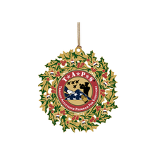 Load image into Gallery viewer, Wreath Ornament 24k Gold TAPS Logo