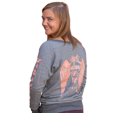 Load image into Gallery viewer, French Terry Sweater with Rose Gold Metallic Wings