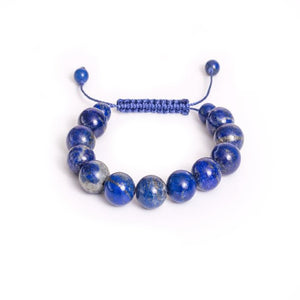 Lapis Bracelet with Hand Tied Knot