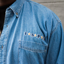 Load image into Gallery viewer, Denim Shirt with Embroidered Logo