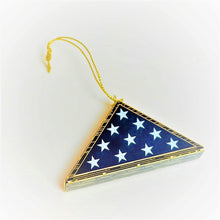 Load image into Gallery viewer, Folded Flag Ornament 24k Gold