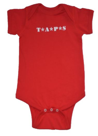 TAPS Family Baby Onesie Red
