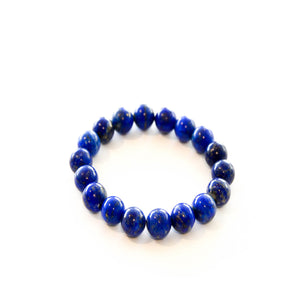 Lapis Stretch Beaded Bracelet