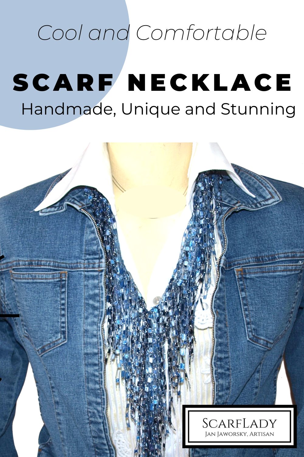 READY TO SEE HOW TO WEAR THE SCARF NECKLACE FROM SCARFLADY?