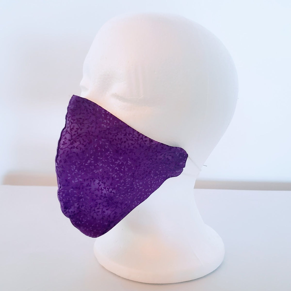 Purple Pattern Cloth Face Mask