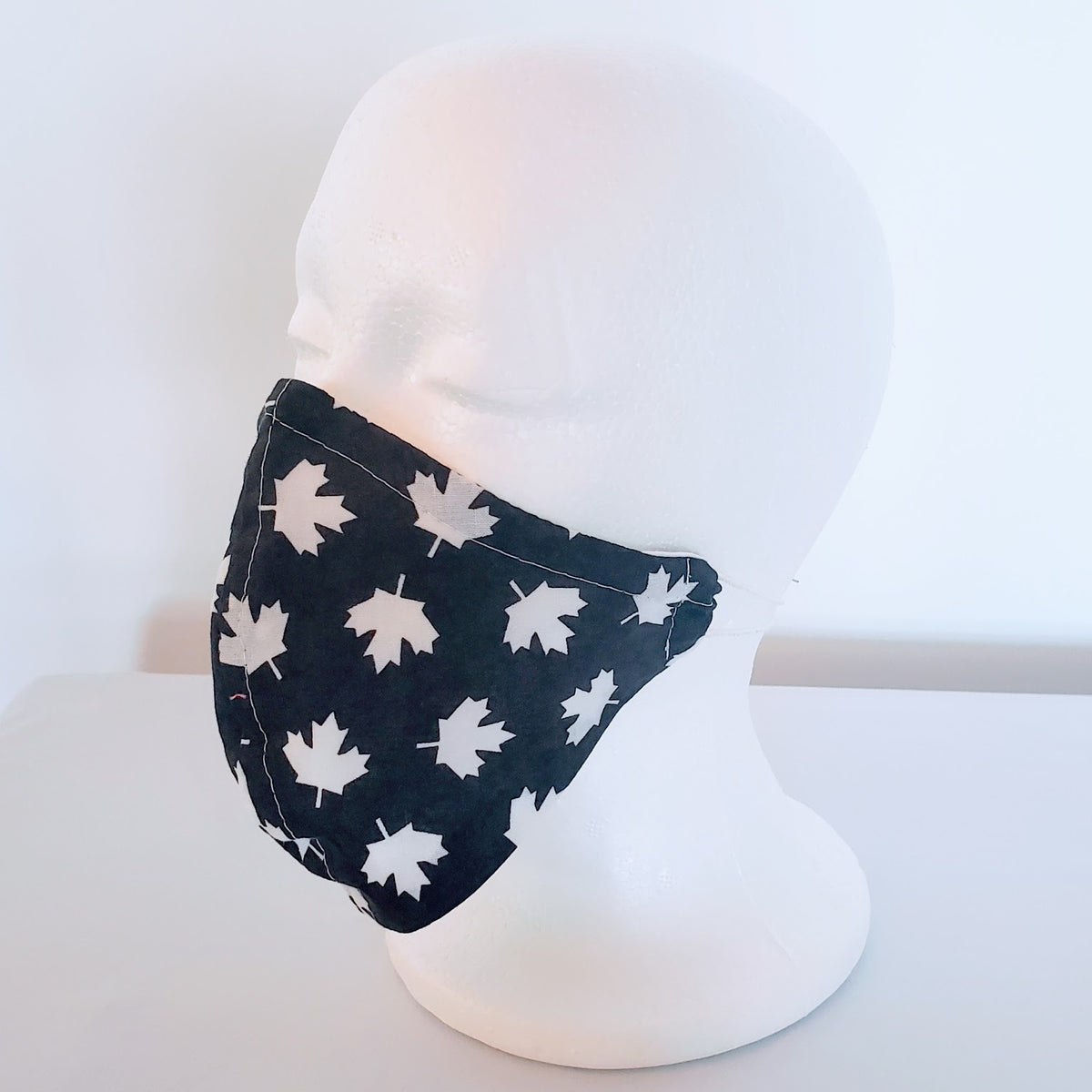Dark Grey Canada Maple Leaves Cloth Face Mask