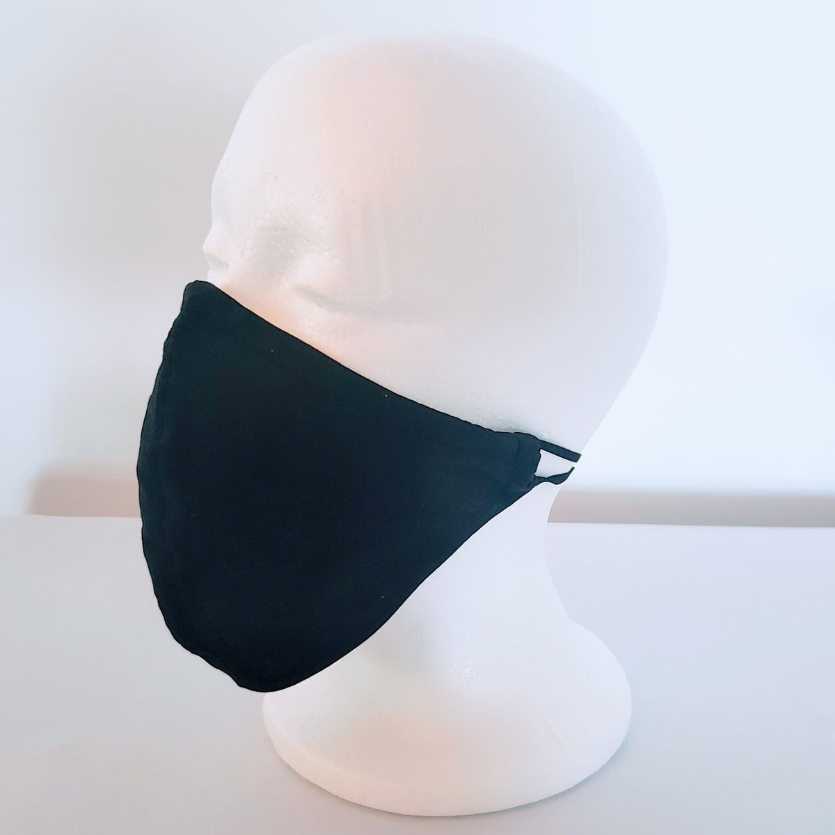 Solid Black Cloth Face Mask