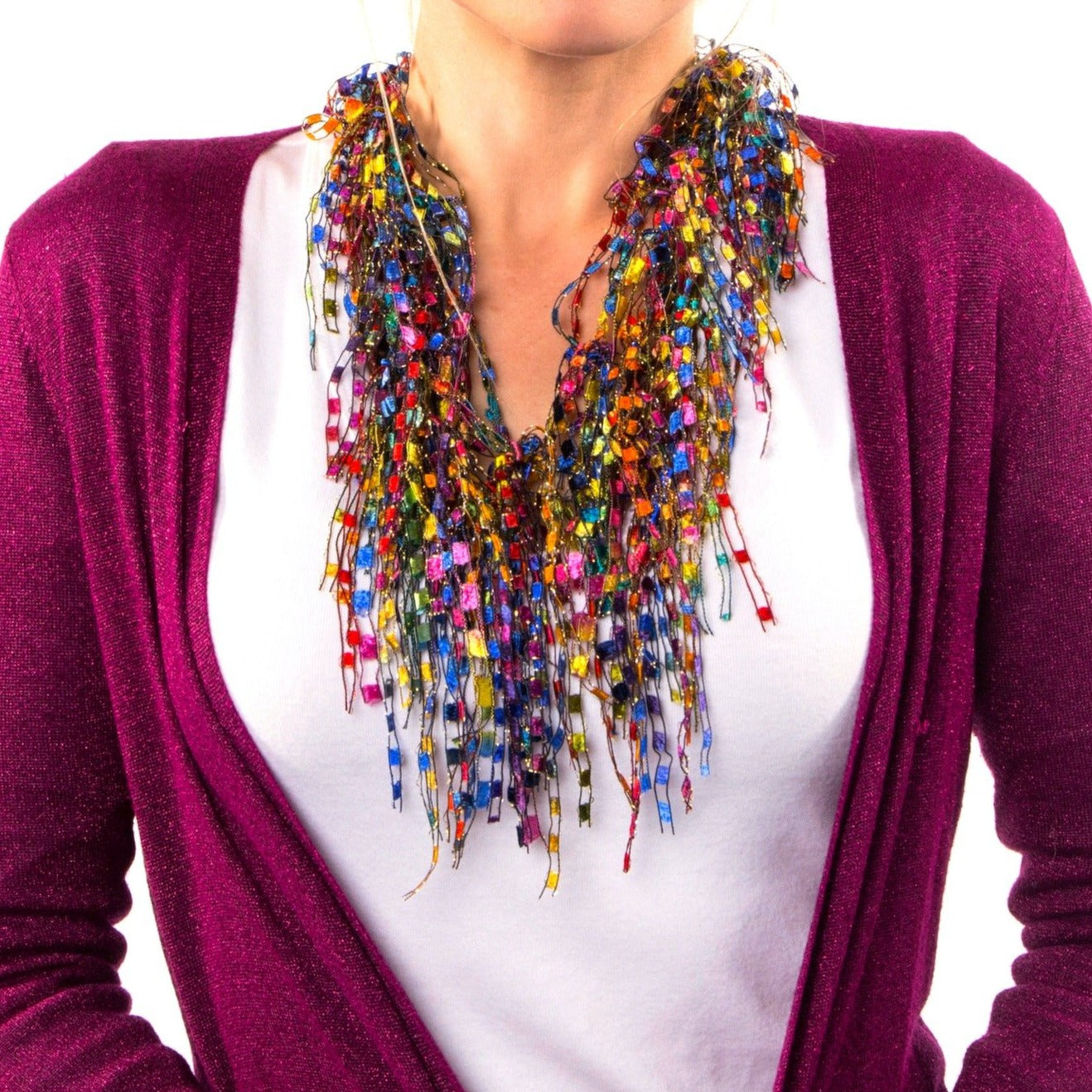 Colorful Scarf Necklace for Women