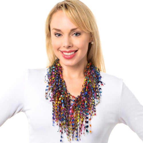 MultiColor Necklace Scarf - Multicolor GemLace