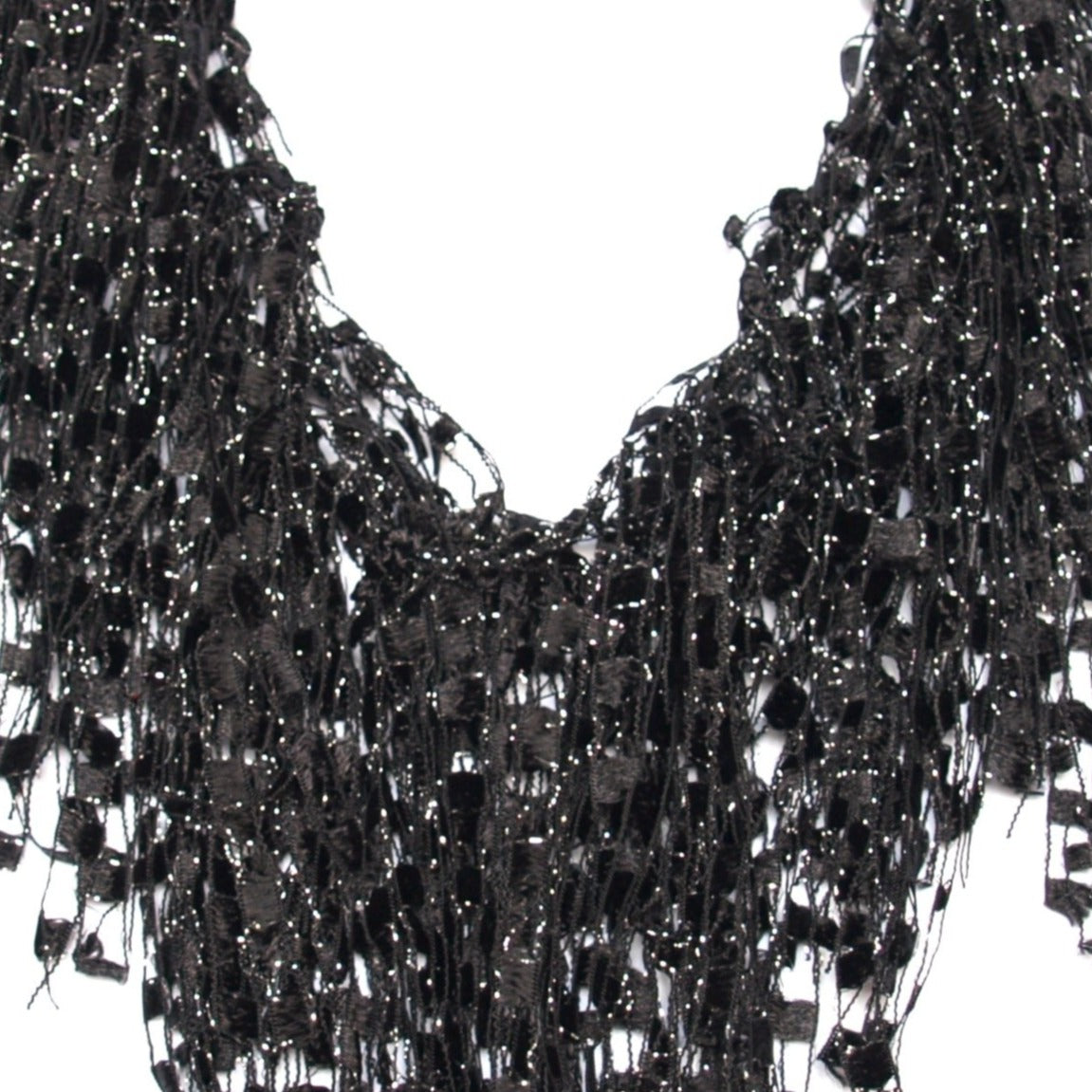 black statement scarf necklace