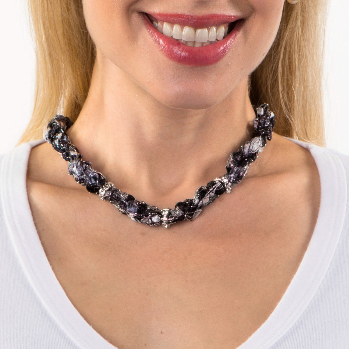 Statement Necklace Black and White