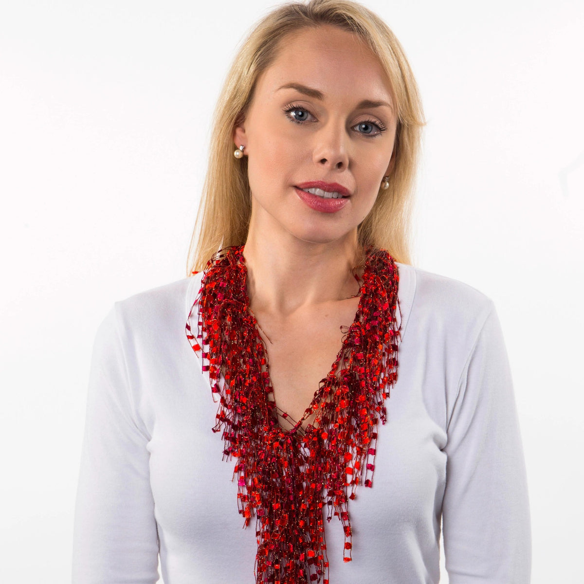 red scarf necklace