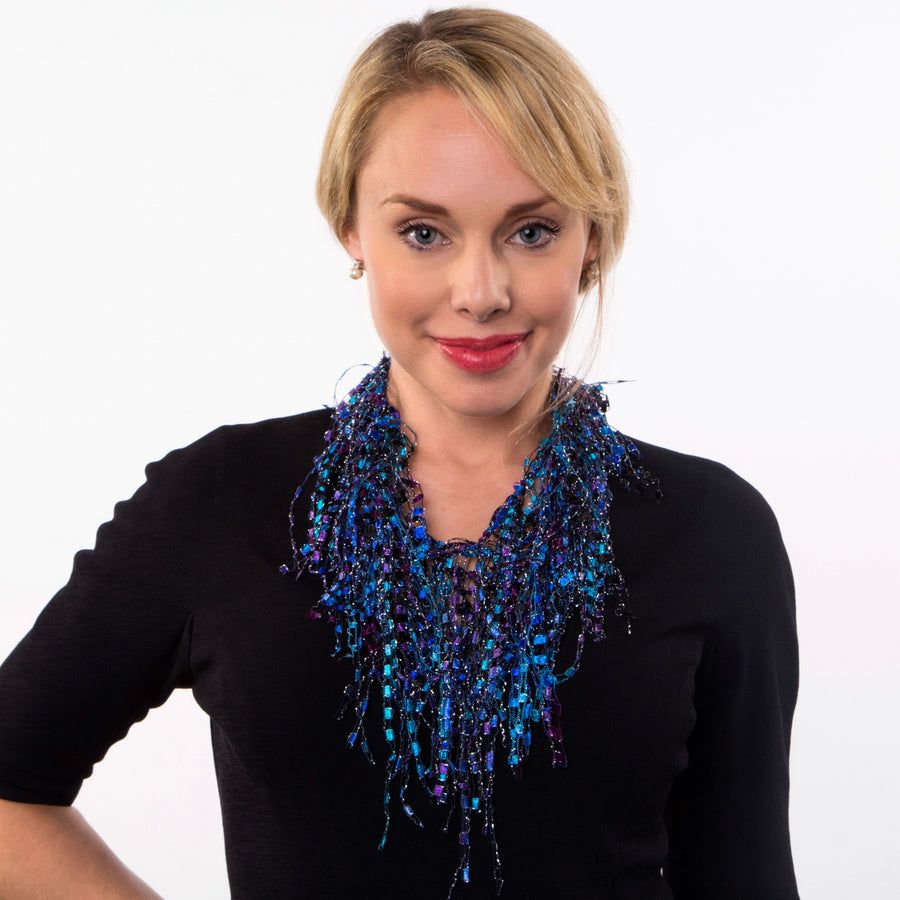 lightweight infinity scarf - Purple Turquoise scarf