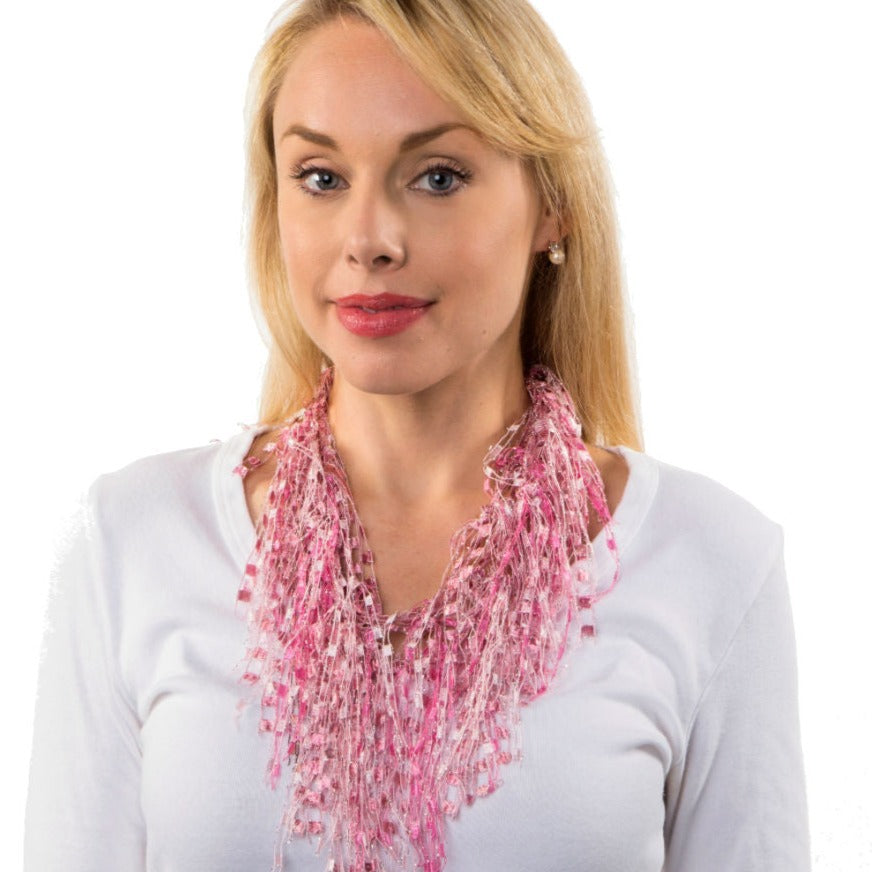 Pink Pearl GemLace Scarf