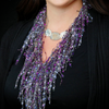Purple Scarf Necklace - Amethyst GemLace by ScarfLady