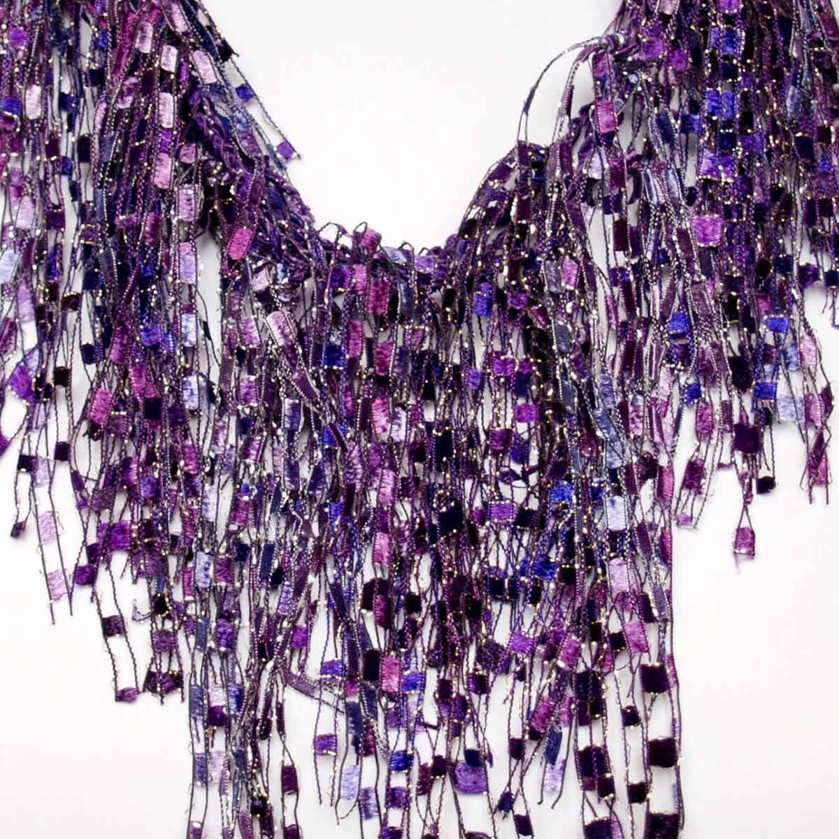 Purple Scarf Necklace - Amethyst GemLace