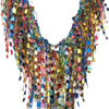 MultiColor Statement Necklace Scarf - Multicolor GemLace
