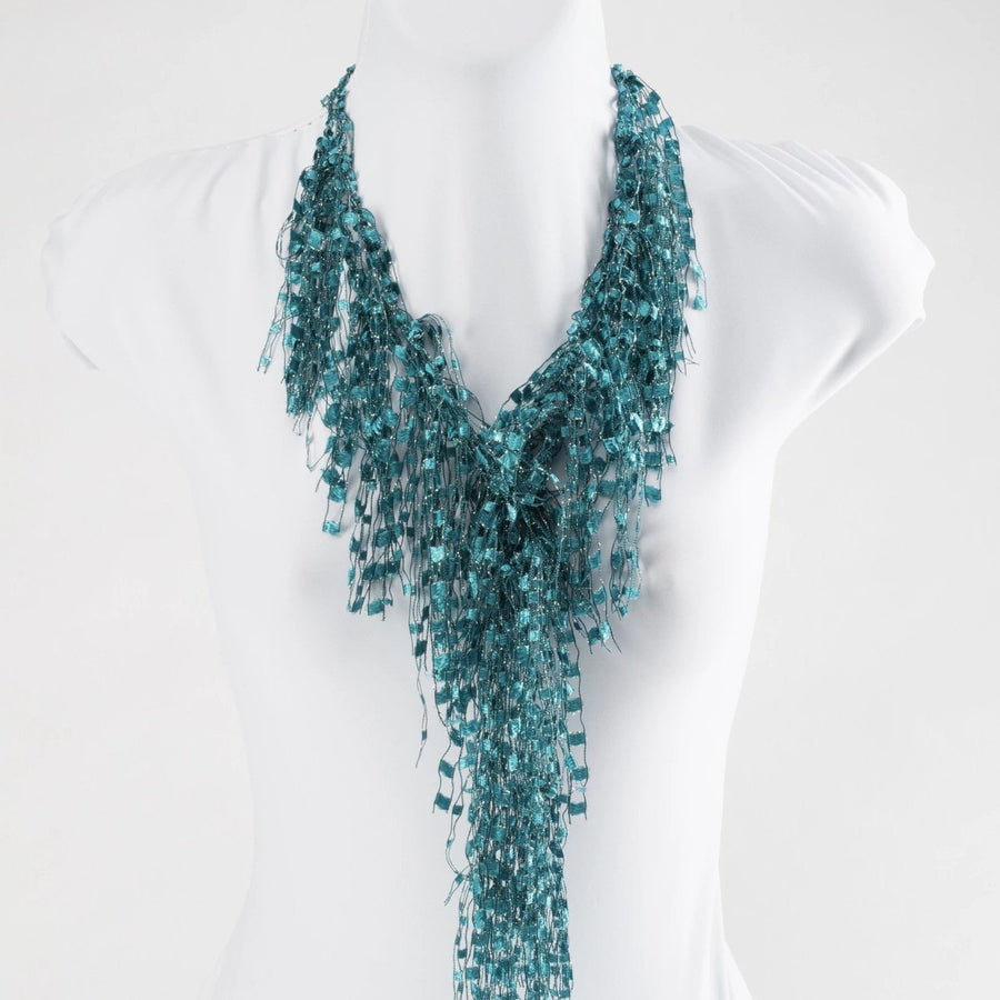 Turquoise necklace scarf