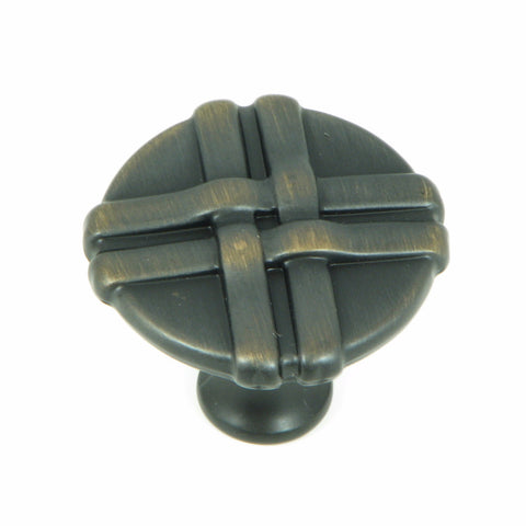CP1492-OB   Oil Rubbed Bronze Weave Cabinet Knob