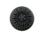 CP82112-BA   Antique Black Dahlia Cabinet Knob