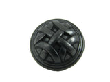 CP82115-BA   Antique Black Cross Flory Cabinet Knob