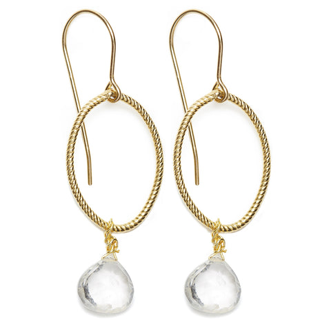 Annika earrings - gold/clear