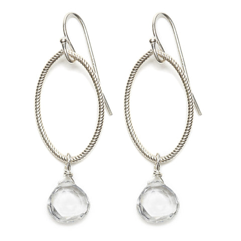 Annika Earrings - silver/clear