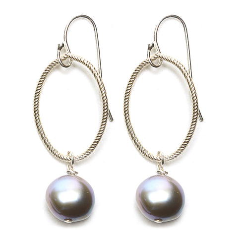 Annika Earrings - silver/grey