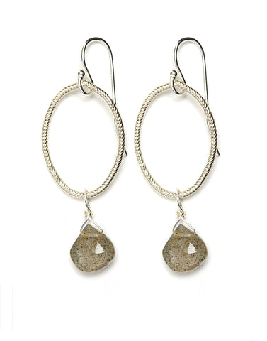Annika Earrings - silver/labradorite