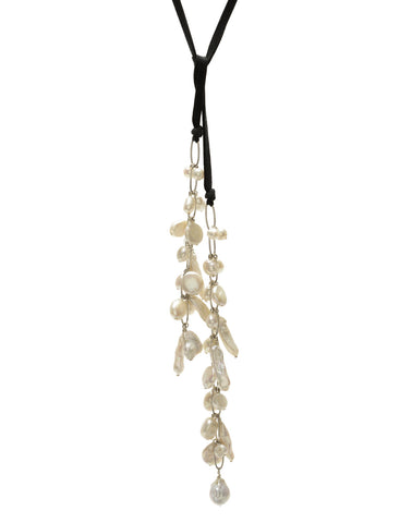 Astrid Lariat - white/black