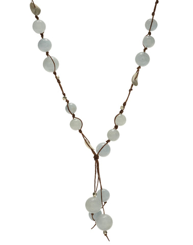 Carola Short Necklace - aquamarine