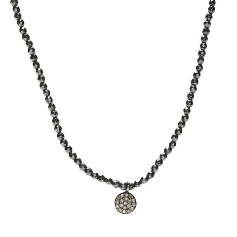 Diamond Mini Necklace - hematitle