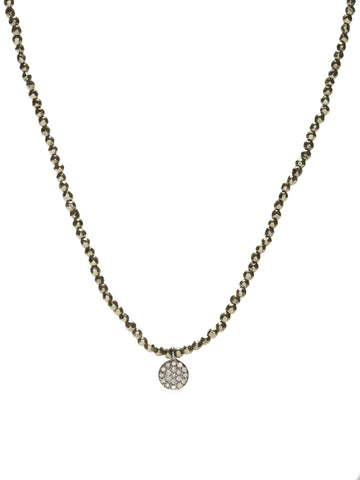 Diamond Mini Necklace - pyrite