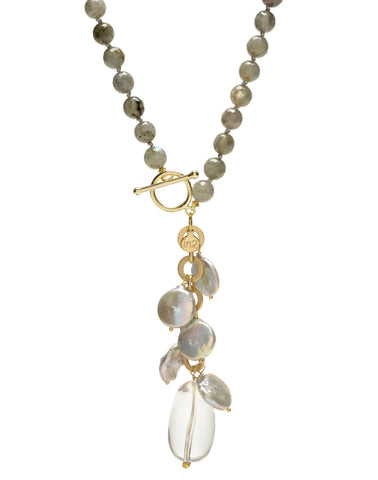 Ellinor Clasp Necklace - labradorite