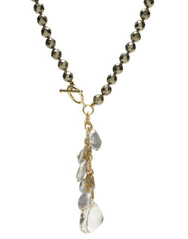 Ellinor Clasp Necklace - pyrite