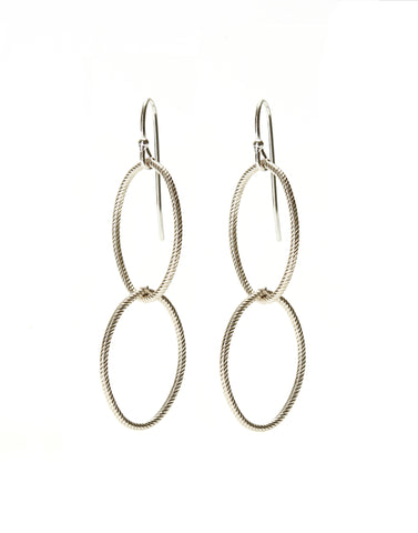 Double Earrings - silver