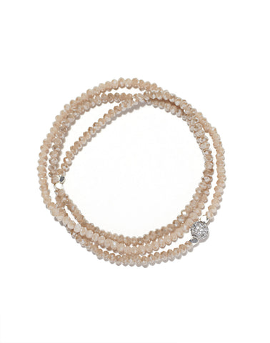 Petra triple wrap bracelet, rose crystals