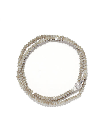 Petra triple wrap bracelet, cement crystals
