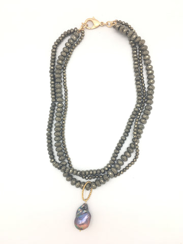 Karin necklace, pyrite