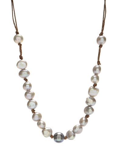 Lotta Chunky Necklace - grey