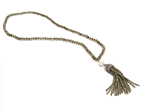Madeleine Necklace - pyrite