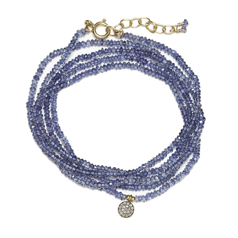 Mimi Diamond Wrap - gold/Iolite