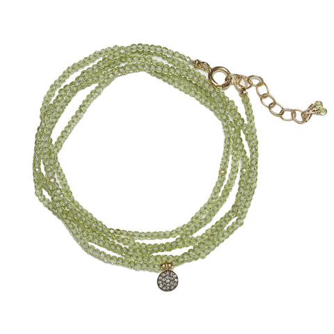 Mimi Diamond Wrap - gold/peridot