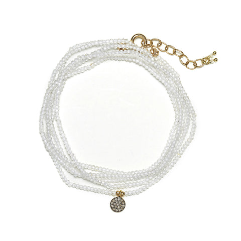 Mimi Diamond Wrap - gold/white moonstone