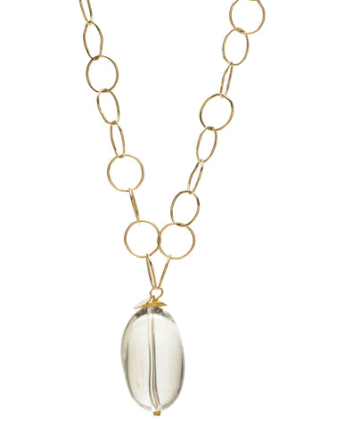 Nina Necklace - clear/gold
